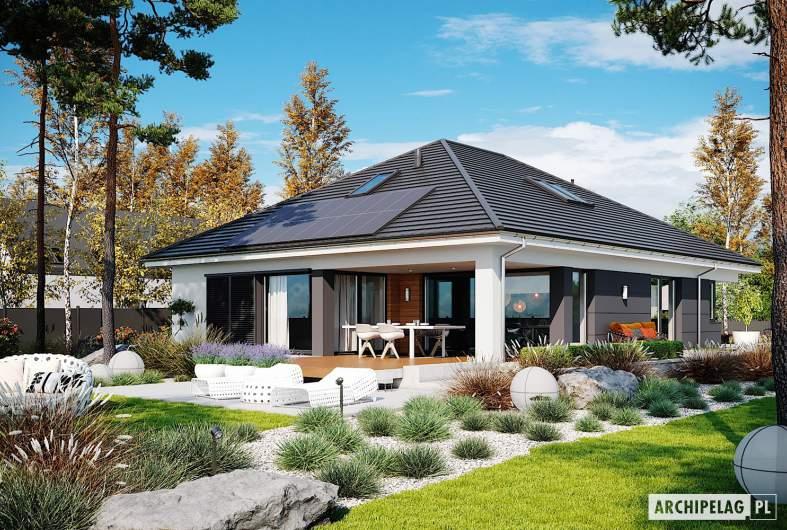 Projekt domu Alison IV G2 - wizualizacja ogrodowa