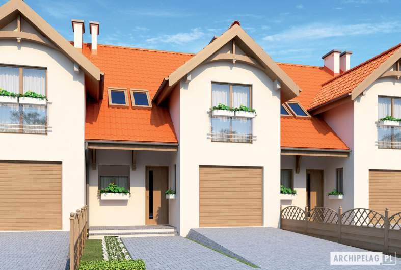 Projekt domu Rozanna G1 - wizualizacja frontowa