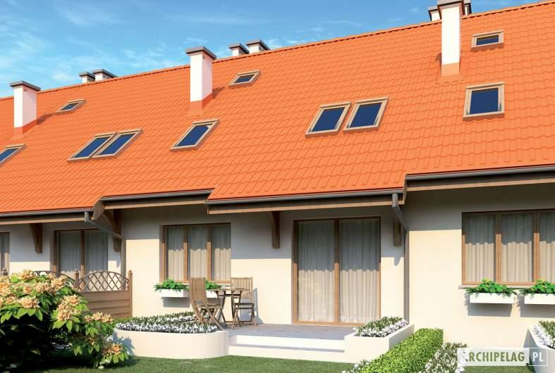 Projekt domu Rozanna G1 - wizualizacja ogrodowa