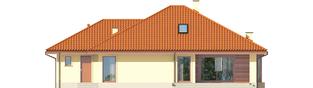 Projekt domu Flori III G1 (wersja B) Leca® DOM - elewacja tylna