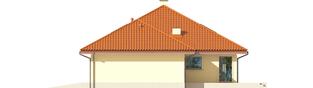 Projekt domu Flori III G1 (wersja B) Leca® DOM - elewacja prawa