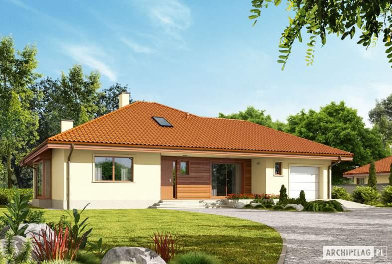 Projekt domu Flori III G1 (wersja B) Leca® DOM - Projekty domów ARCHIPELAG - Flori III G1 (wersja B) Leca® DOM - wizualizacja frontowa