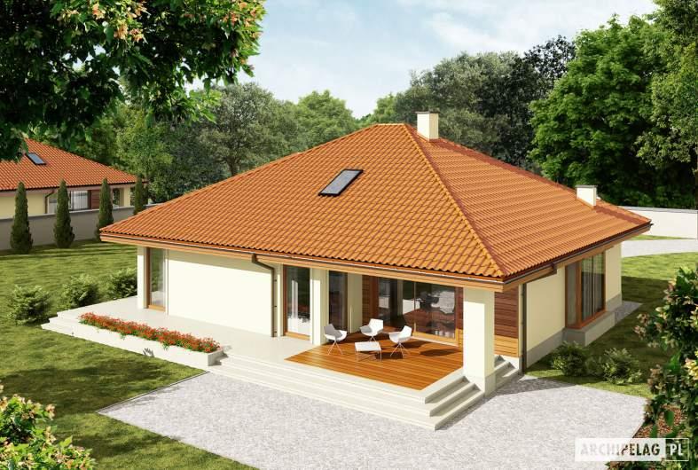 Projekt domu Flori III G1 (wersja B) Leca® DOM - Projekty domów ARCHIPELAG - Flori III G1 (wersja B) Leca® DOM - widok z góry