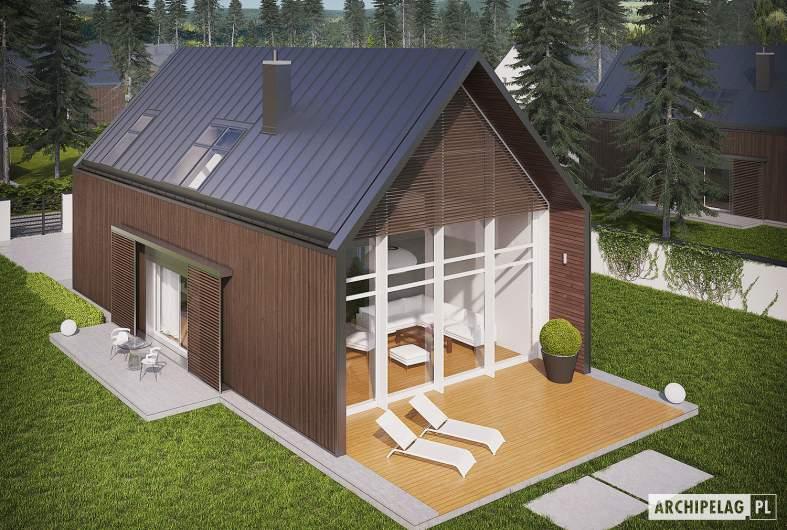 Projekt domu EX 13 ENERGO PLUS - Projekty domów ARCHIPELAG - EX 13 - widok z góry