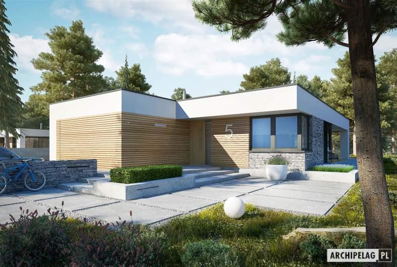 Projekt domu EX 21 G2 soft - wizualizacja frontowa