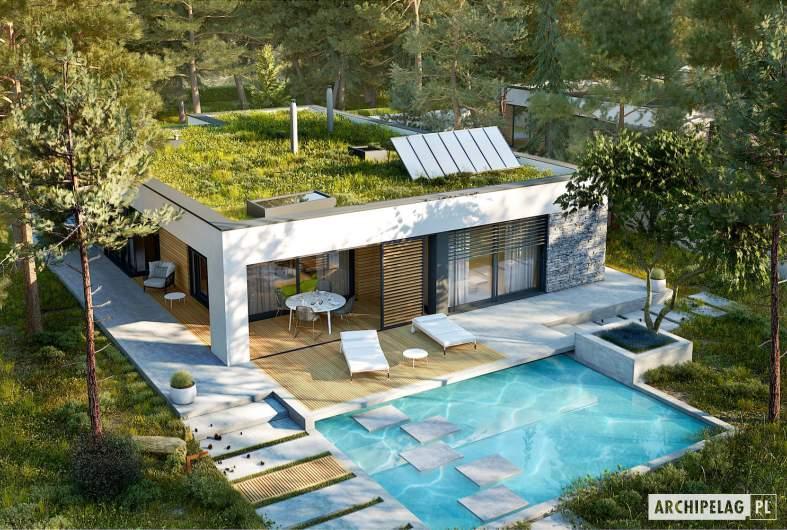 Projekt domu EX 21 G2 soft - widok z góry