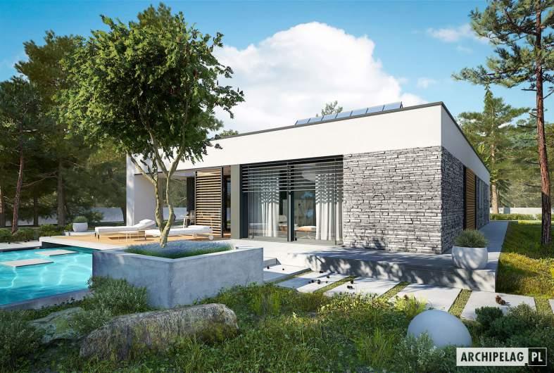 Projekt domu EX 21 G2 soft - wizualizacja ogrodowa