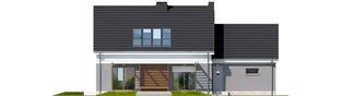 Projekt domu Ariel G1 ENERGO - elewacja tylna
