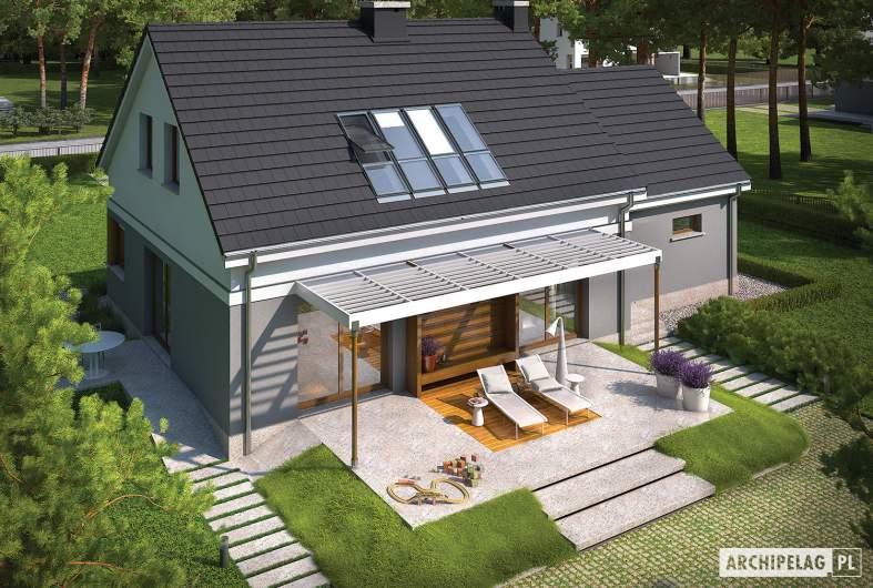 Projekt domu Ariel G1 ENERGO - widok z góry