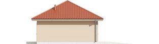 Projekt domu Garaż G38 - elewacja lewa