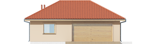 Projekt domu Garaż G38 - elewacja frontowa