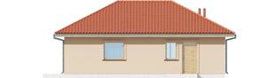 Projekt domu Garaż G38 - elewacja tylna