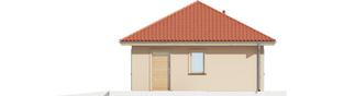 Projekt domu Garaż G38 - elewacja prawa