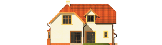 Marzena - Projekt domu Marzena G1 - elewacja lewa