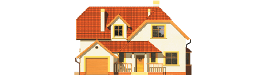 Marzena - Projekt domu Marzena G1 - elewacja frontowa
