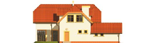 Marzena - Projekt domu Marzena G1 - elewacja tylna