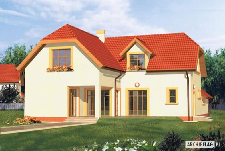Projekt domu Marzena G1 - wizualizacja ogrodowa