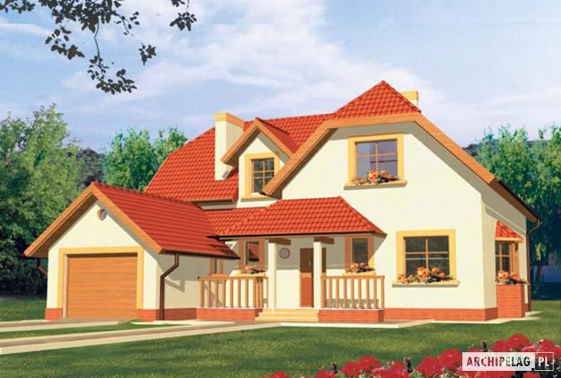 Projekt domu Marzena G1 - wizualizacja frontowa