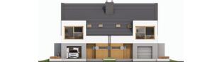 Projekt domu Lukas G1 (bliźniak) - elewacja frontowa