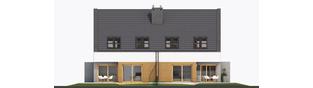 Projekt domu Lukas G1 (bliźniak) - elewacja tylna