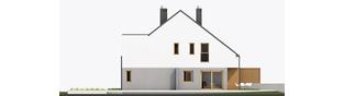 Projekt domu Lukas G1 (bliźniak) - elewacja prawa