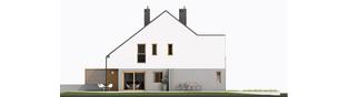 Projekt domu Lukas G1 (bliźniak) - elewacja lewa