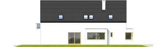 Bruno G1 A++ - Projekt domu Bruno G1 - Archipelag - elewacja lewa