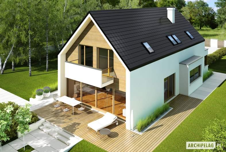Projekt domu Bruno G1 - Archipelag - widok z góry