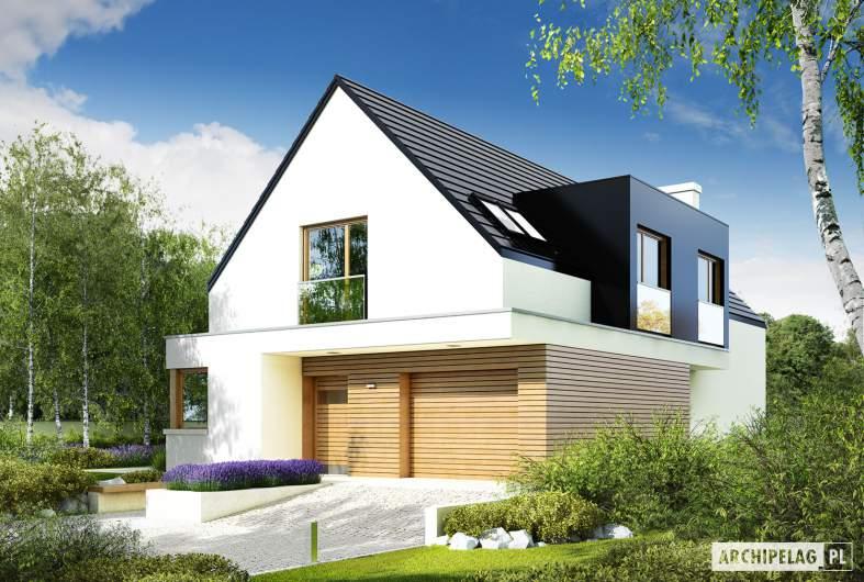 Projekt domu Bruno G1 - Archipelag - wizualizacja frontowa