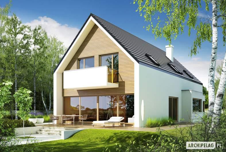 Projekt domu Bruno G1 - Archipelag - wizualizacja ogrodowa