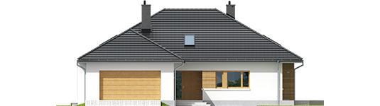 Marcijus II G2 A++ - Projekt domu Marcel II G2 - elewacja frontowa