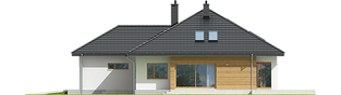 Projekt domu Marcel II G2 - elewacja prawa