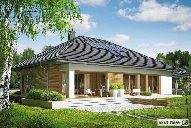 Projekt domu Marcel II G2 - wizualizacja ogrodowa prawa