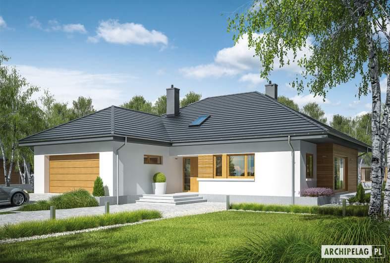 Projekt domu Marcel II G2 - wizualizacja frontowa