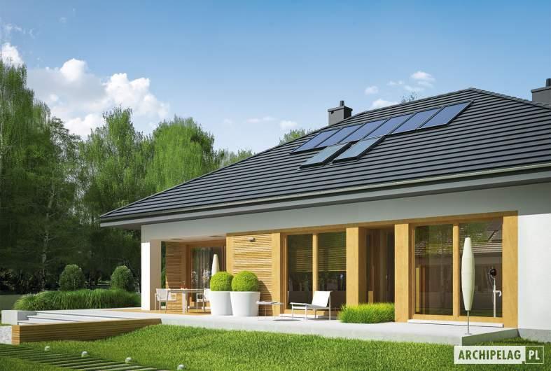 Projekt domu Marcel II G2 - wizualizacja ogrodowa