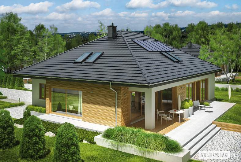 Projekt domu Marcel II G2 - widok z góry