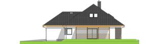 Projekt domu Astrid III G2 ENERGO PLUS - elewacja prawa
