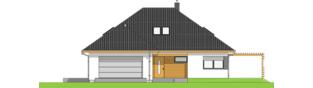 Projekt domu Astrid III G2 ENERGO PLUS - elewacja frontowa