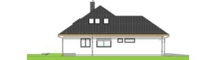 Projekt domu Astrid III G2 ENERGO PLUS - elewacja lewa