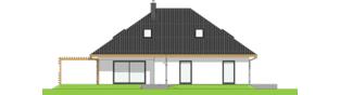 Projekt domu Astrid III G2 ENERGO PLUS - elewacja tylna