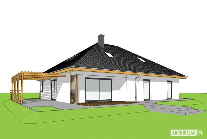Projekt domu Astrid III G2 ENERGO PLUS - wizualizacja ogrodowa