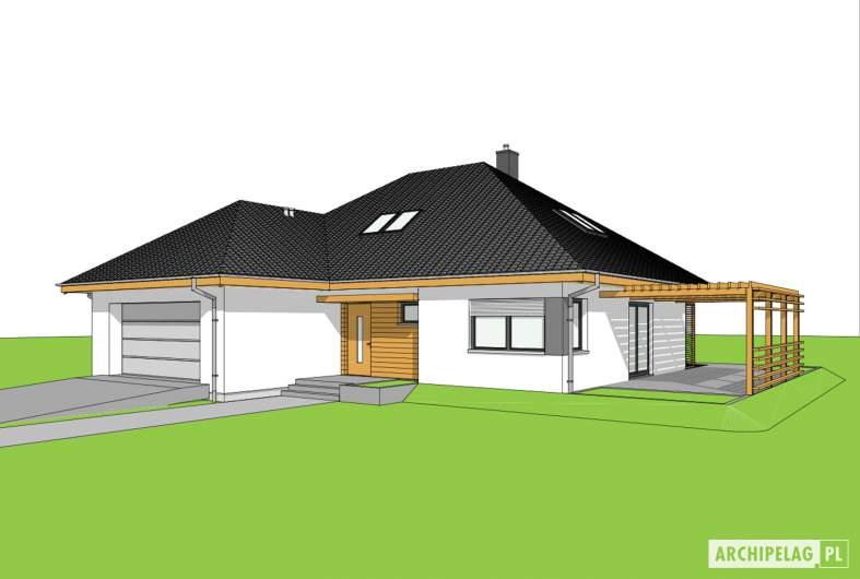 Projekt domu Astrid III G2 ENERGO PLUS - wizualizacja frontowa