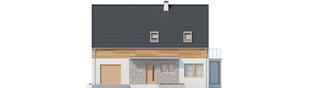 Projekt domu Apolonia G1 - elewacja frontowa