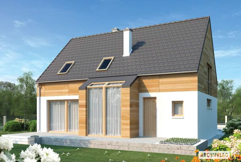 Projekt domu Apolonia G1 - wizualizacja ogrodowa