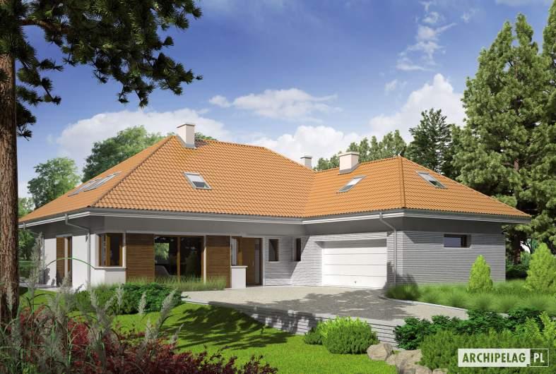 Projekt domu Morgan G2 - wizualizacja frontowa