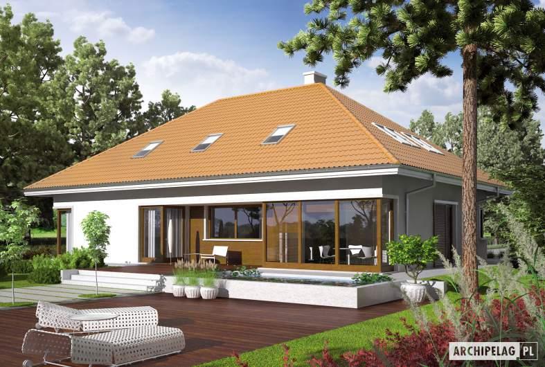 Projekt domu Morgan G2 - wizualizacja ogrodowa