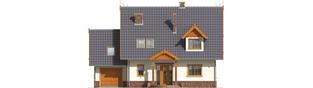 Projekt domu Eulalia G1 - elewacja frontowa