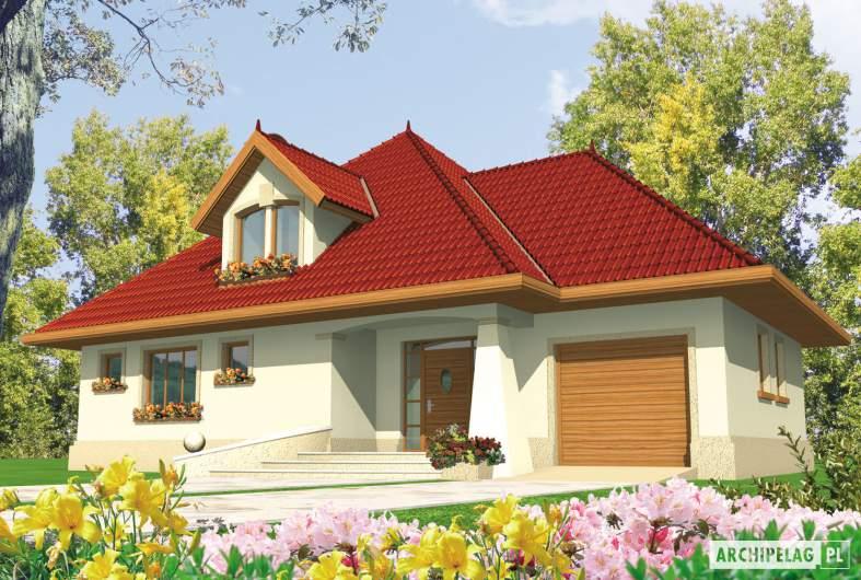 Projekt domu Pola G1 - wizualizacja frontowa