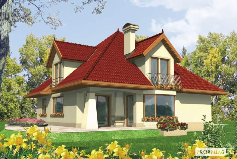 Projekt domu Pola G1 - wizualizacja ogrodowa