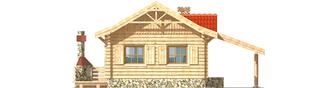 Projekt domu Aniela (z wiatą) - elewacja frontowa